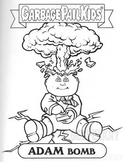 - Garbage Pail Kids Coloring Book GEEPEEKAY