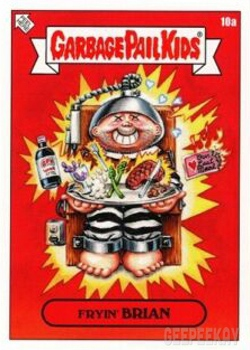 2019 GPK Valentine's Day is Gross MAD MIKE 6a Pink Garbage Pail Kids Verzamelingen