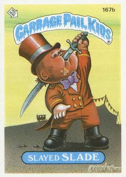 1987 Garbage Pail Kids 402a Lunchpail Gail Die Cut  Error Card