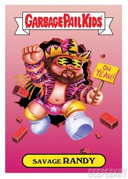 TOPPS THE GARBAGE PAIL KIDS WWE COMPLETE 13 STICKER SET 2019